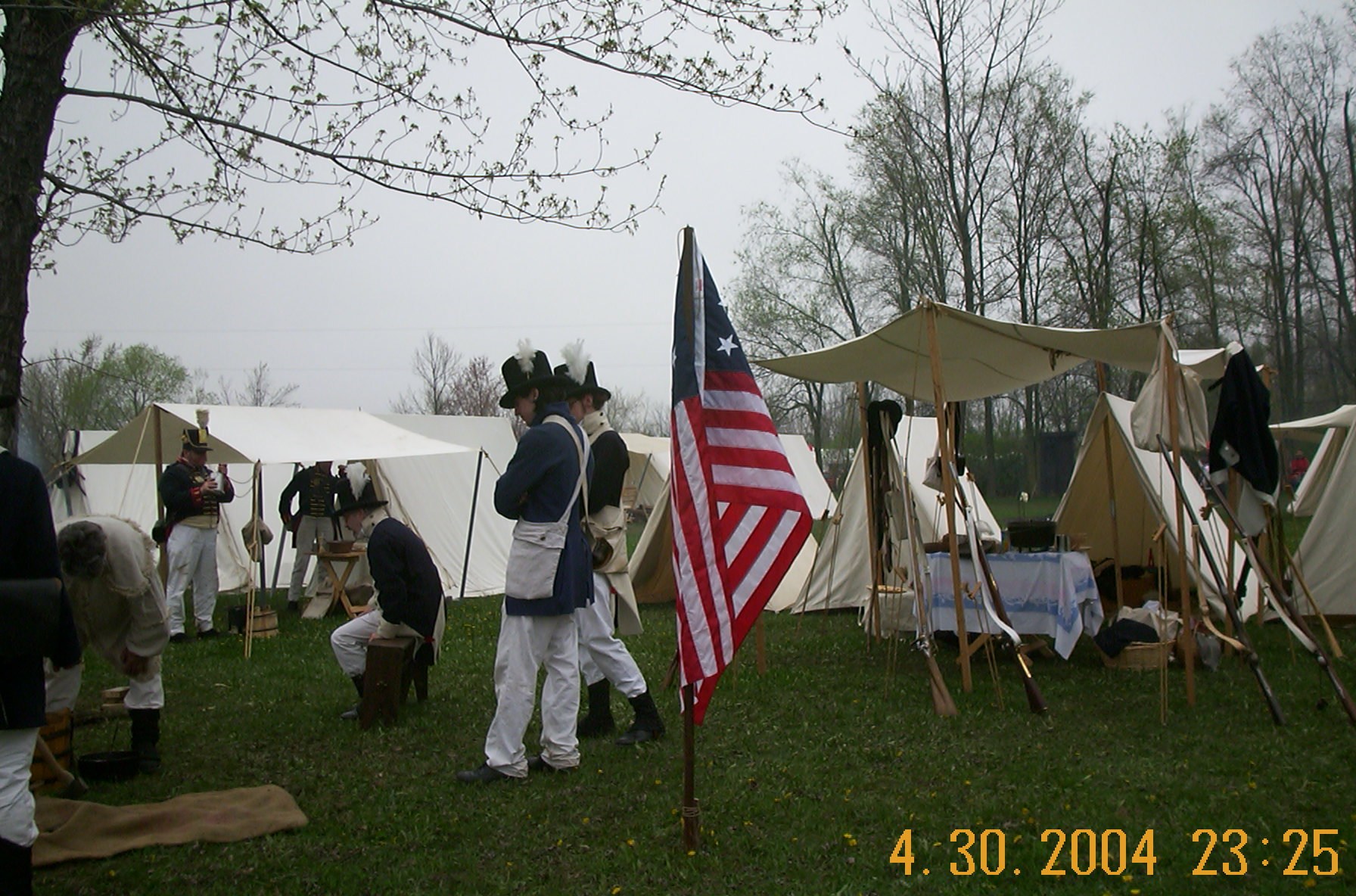 The 2nd Mich. Militia in camp